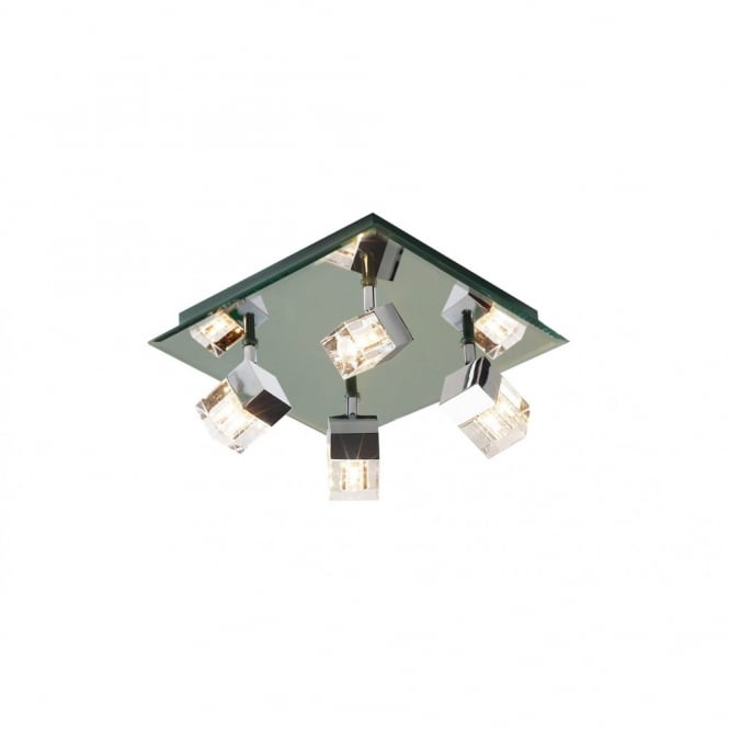 . Logic Square Bathroom Ceiling Light with 4 Adjustable Spotlights