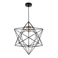 Geometric modern ceiling lighting modern matte black star shaped ceiling pendant mozeypictures Choice Image