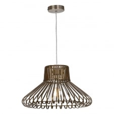 easy fit antique brass pendant shade