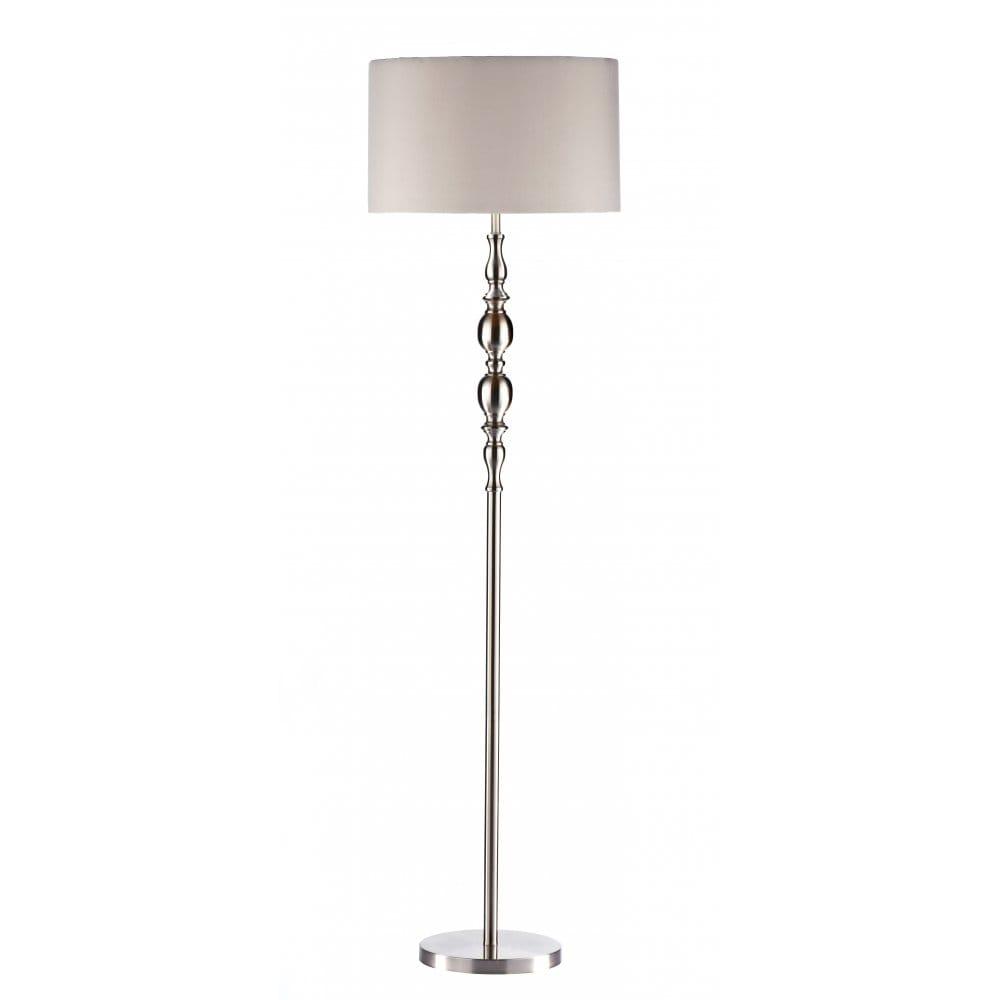 Amazon Uk Modern Floor Lamp: Standard Floor Lamp In Satin Chrome With White Shade
