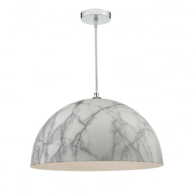 The Lighting Book MAGNUS white marble effect dome ceiling pendant