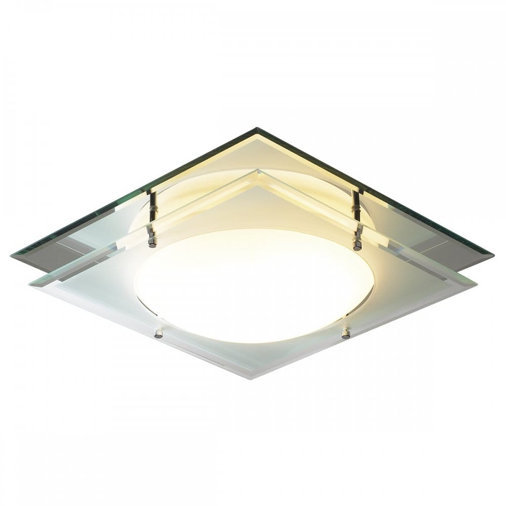 Mantra square ip44 bathroom ceiling light for Bathroom ceiling lights