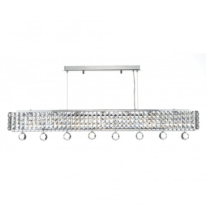 The Lighting Book MATRIX 6lt chrome bar pendant