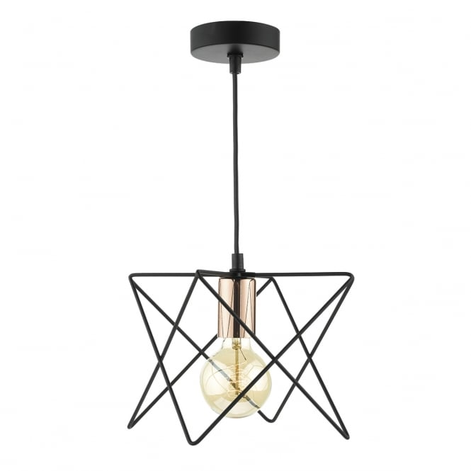 The Lighting Book MIDI black and copper geometric ceiling pendant