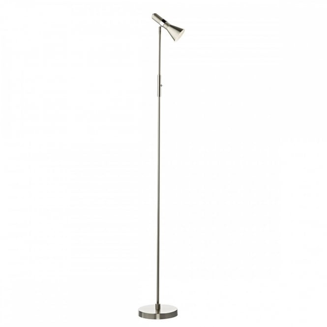 Contemporary Satin Chrome Led Floor Lamp Low Energy Amp Class 2