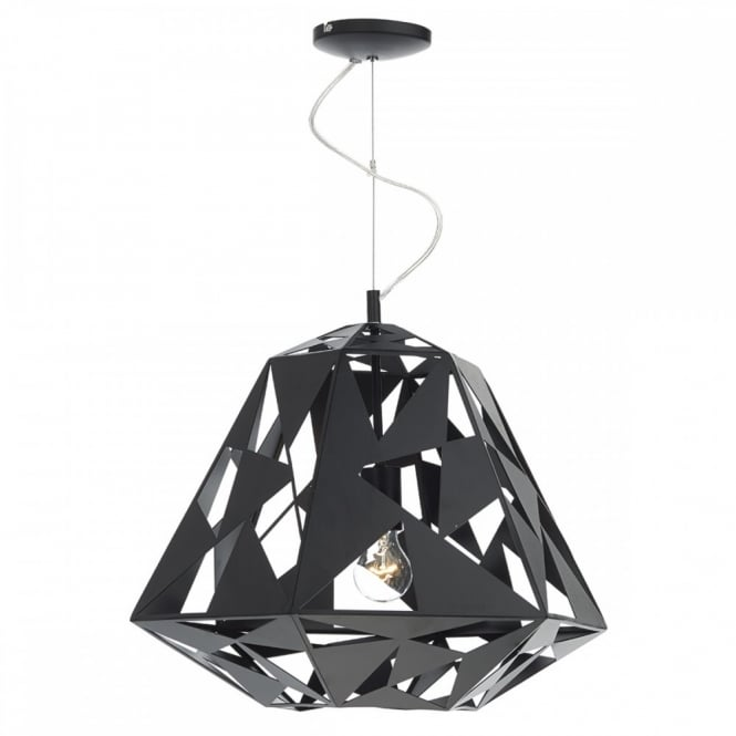 The Lighting Book MOBY modern geometric design ceiling pendant in black