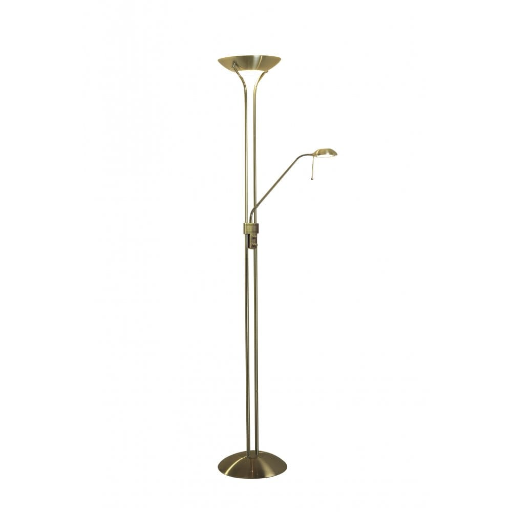 Mother and child floor lamp readying light with flexible arm for Floor lamps reading lights