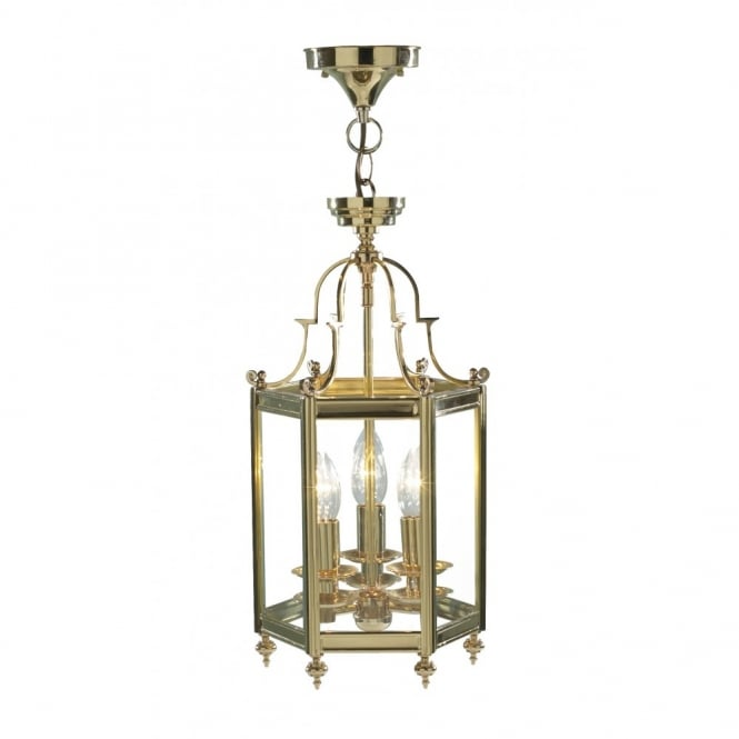 The Lighting Book MOORGATE brass gold traditional hall ceiling lantern