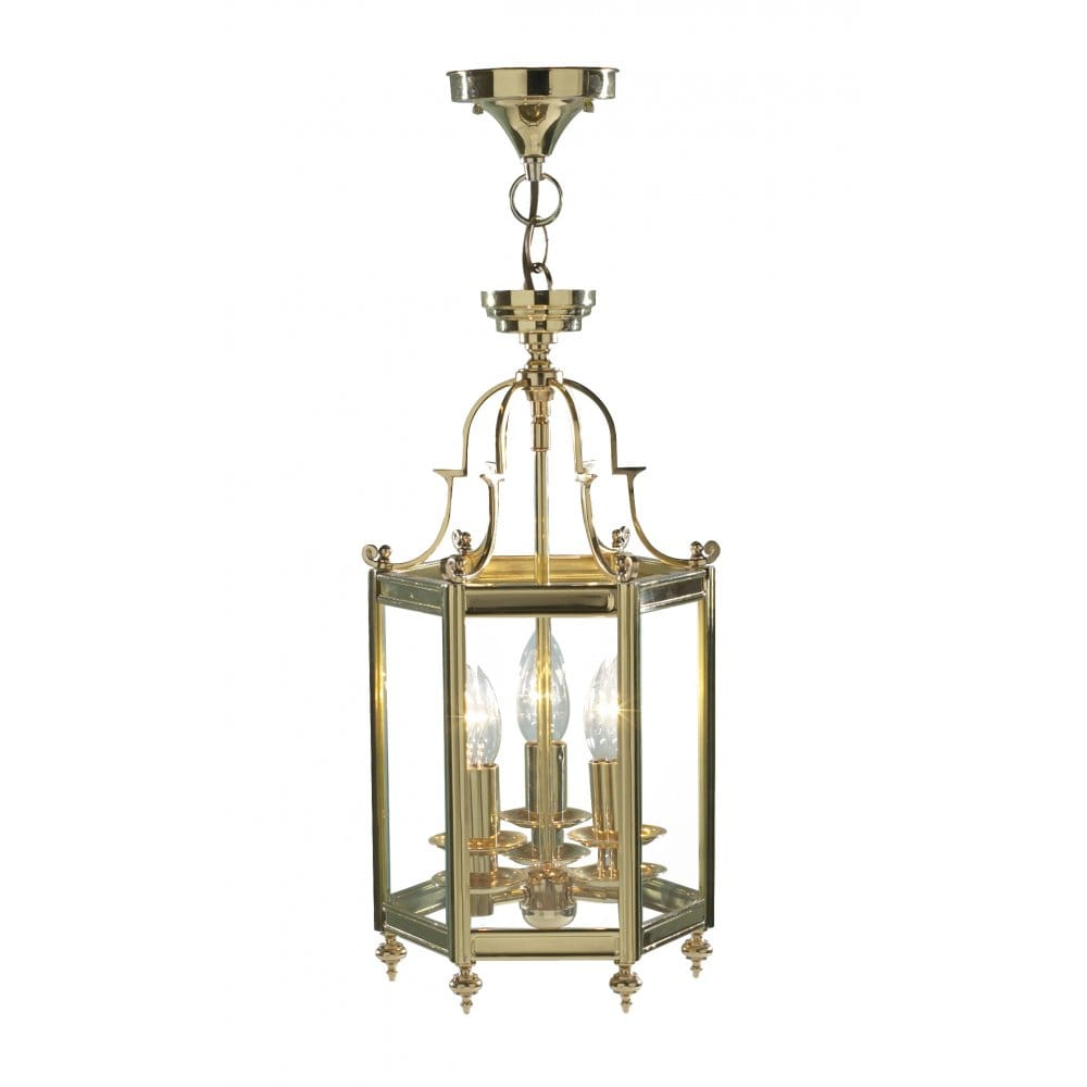Brass Hall Ceiling Lantern Traditional Period Home Lighting.