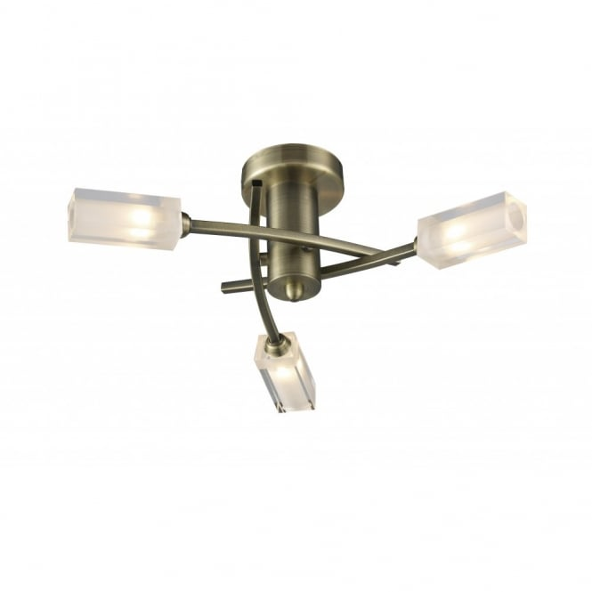 The Lighting Book MORGAN compact antique brass ceiling light