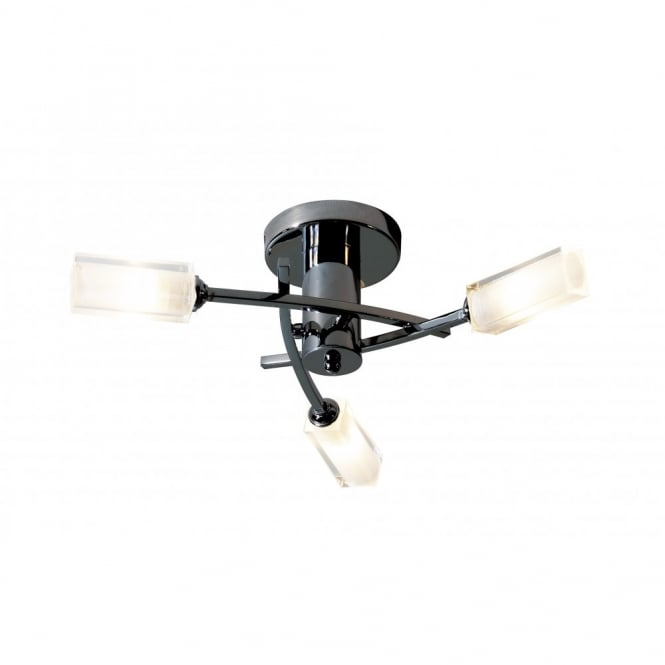 The Lighting Book MORGAN compact black chrome ceiling light