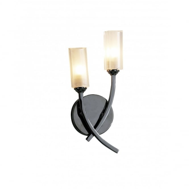 MORGAN modern black chrome halogen wall light