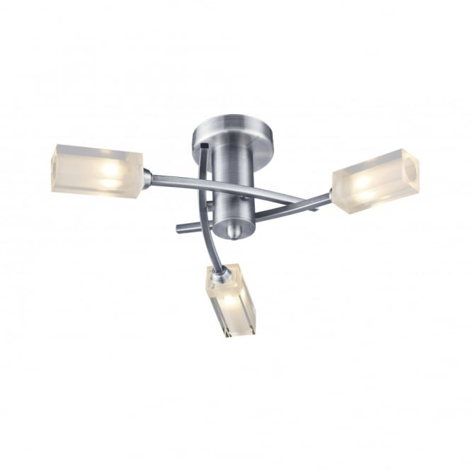 The Lighting Book MORGAN satin chrome light for low ceilings