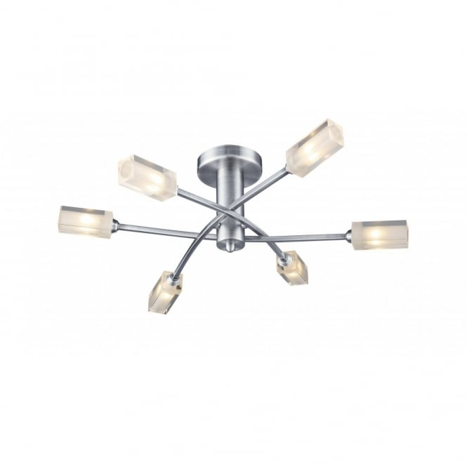 Morgan Satin Chrome Ceiling Light for Low Ceilings