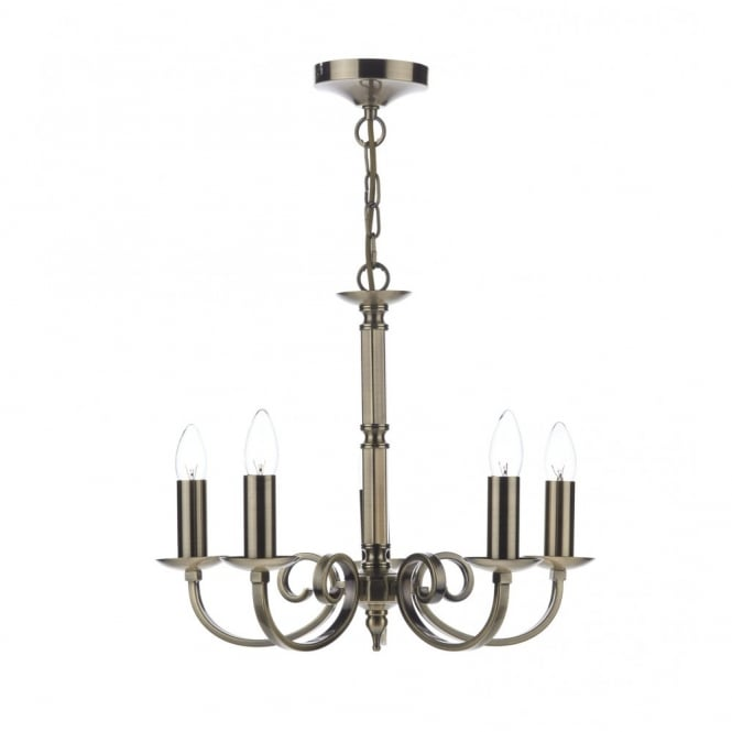 The Lighting Book MURRAY 5 light antique brass ceiling light/pendant
