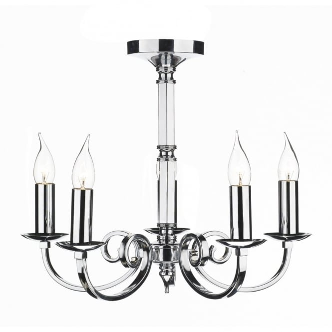 The Lighting Book MURRAY 5 light polished chrome ceiling light/pendant