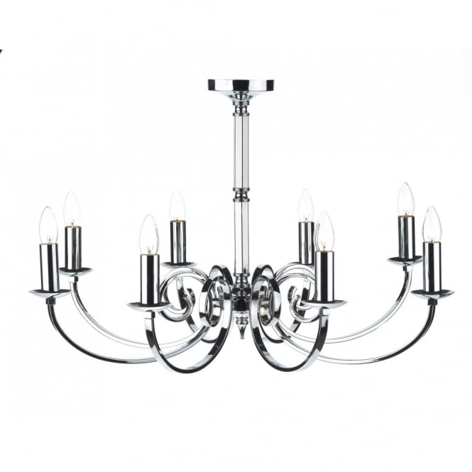 The Lighting Book MURRAY 8 light polished chrome ceiling light/pendant