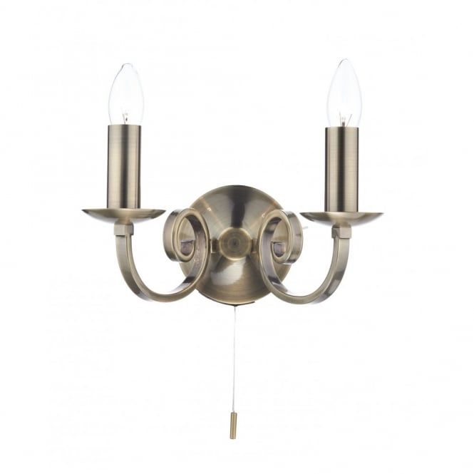 MURRAY brass double wall light