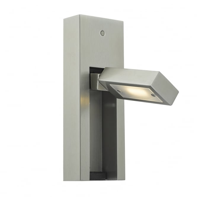 MYLIE satin chrome LED wall mount reading light