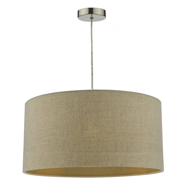 The Lighting Book MYRA easy fit linen shade with gold thread