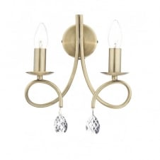 NADINE decorative antique brass double wall light