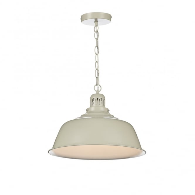The Lighting Book NANTUCKET retro putty coloured ceiling pendant light