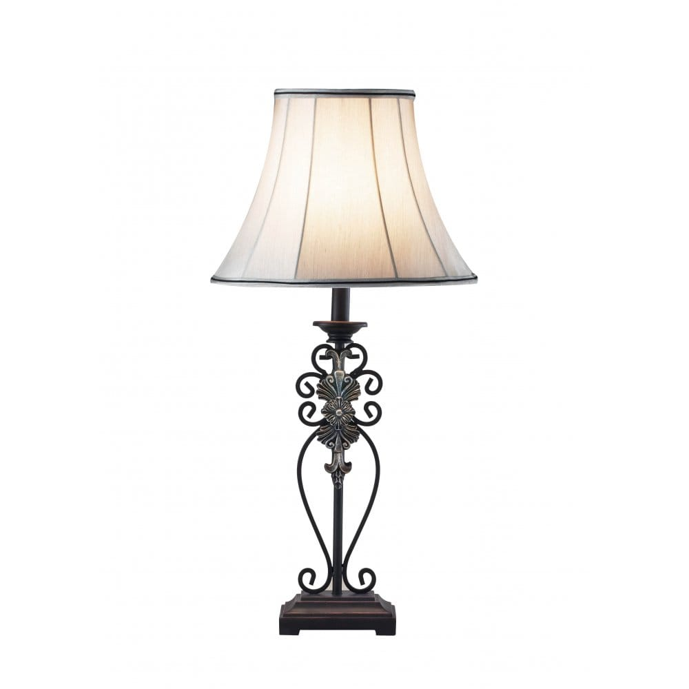 Decorative Iron Table Lamp and Shade.