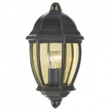 NEWPORT traditional black/gold outdoor wall light