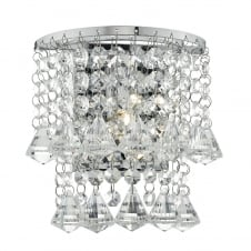 NIKO polished chrome and crystal wall light