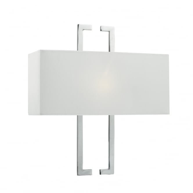 The Lighting Book NILE contemporary polished chrome wall light with shade