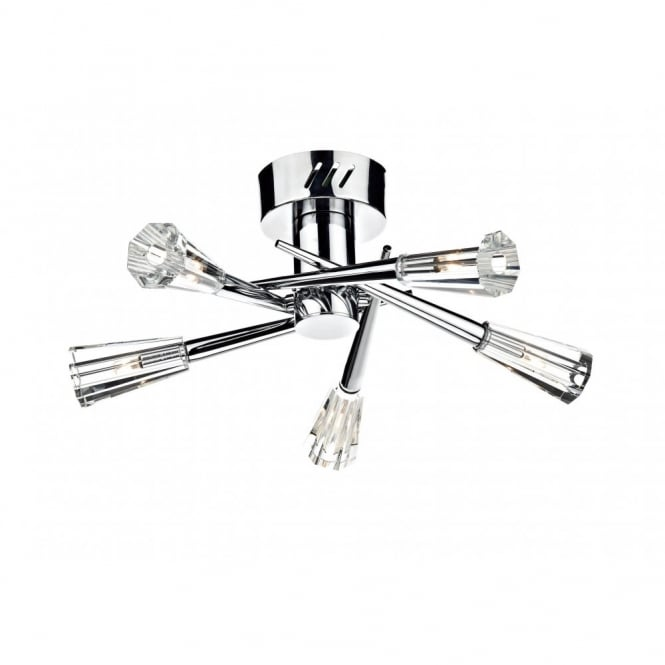 The Lighting Book NIMROD modern double insulated chrome ceiling light