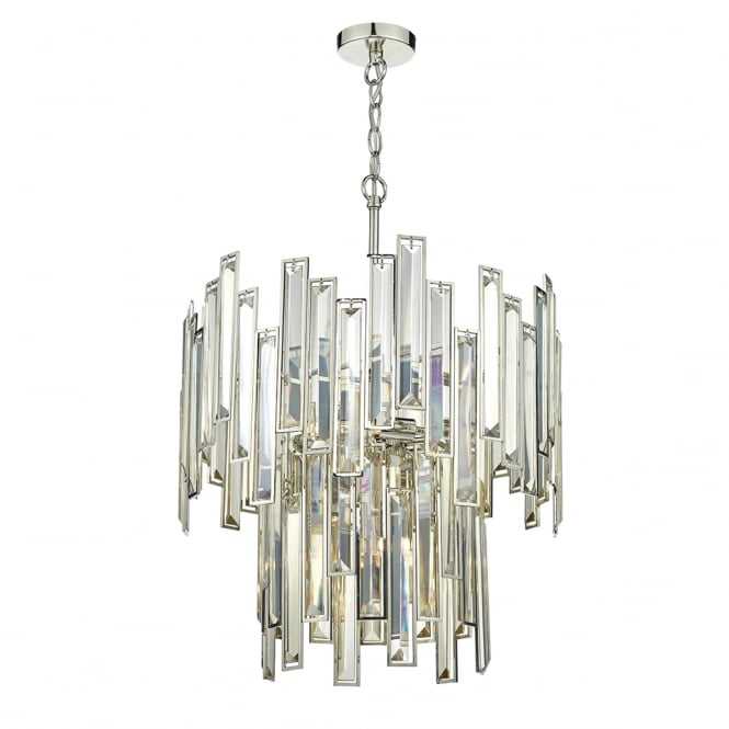 The Lighting Book ODILE two tier gold tone crystal and polished nickel ceiling pendant