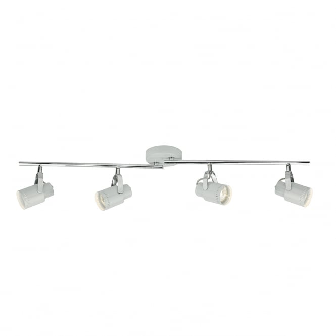 The Lighting Book ORKNEY 4 light ceiling spotlight bar light in cool grey and chrome
