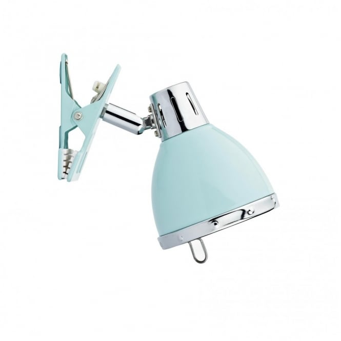 OSAKA clip on reading light, blue retro style