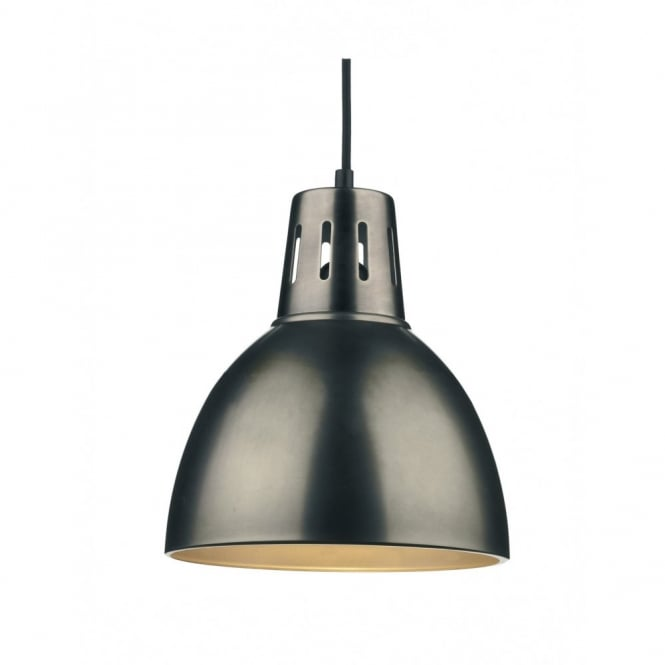 OSAKA Easy Fit Antique Chrome Metal Ceiling Pendant Shade
