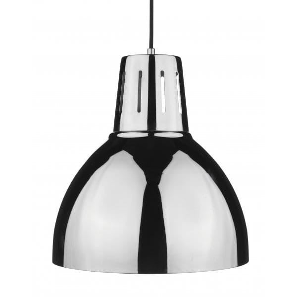Ceiling Lamp Shade Doesn T Fit: Osaka Polished Chrome Easy Fit Metal Ceiling Pendant Light