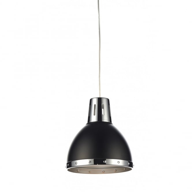 The Lighting Book OSAKA non electric black & chrome pendant shade