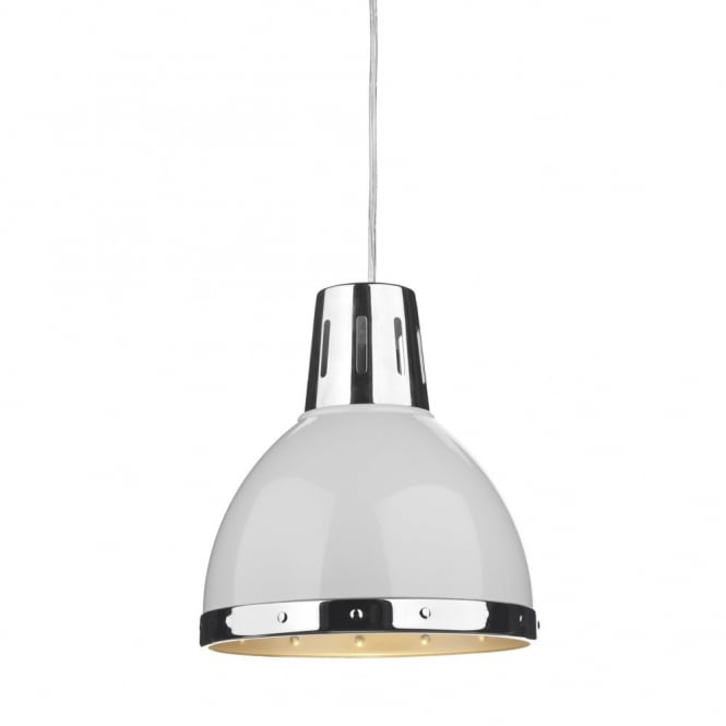 Small White Metal Easy Fit Non Electric Retro Style Ceiling Pendant