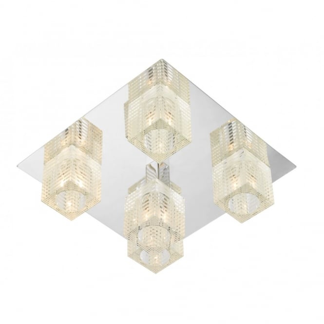 The Lighting Book OSWALD square flush ceiling light for low ceilings