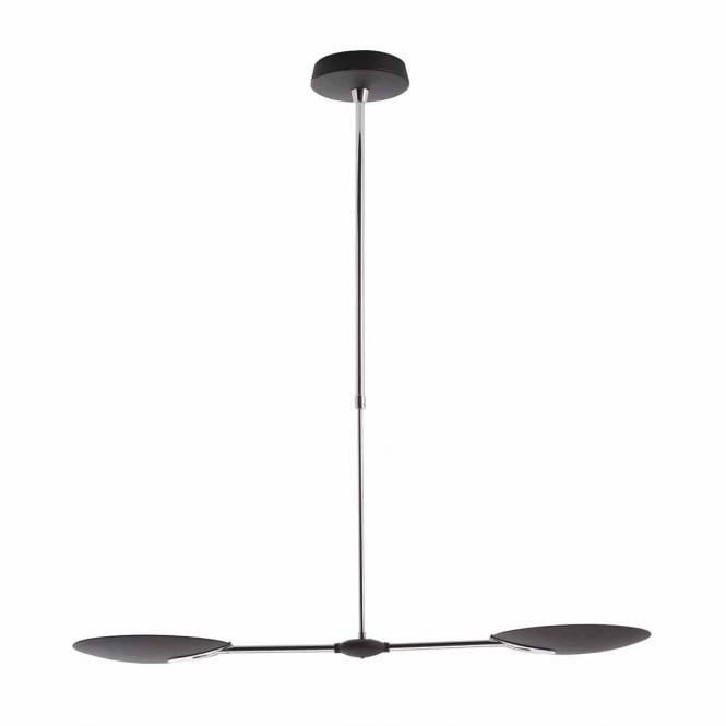 OUNDLE 2 light LED ceiling pendant in black