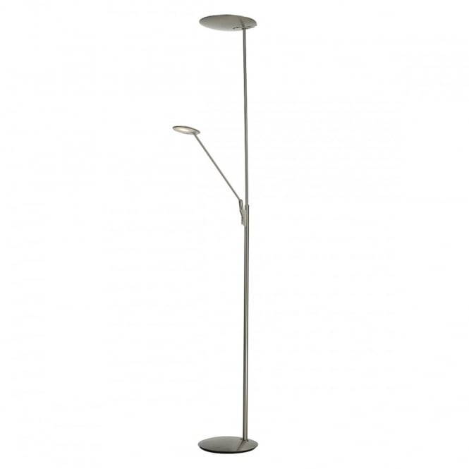 Modern satin nickel led mother and child floor lamp aloadofball Images