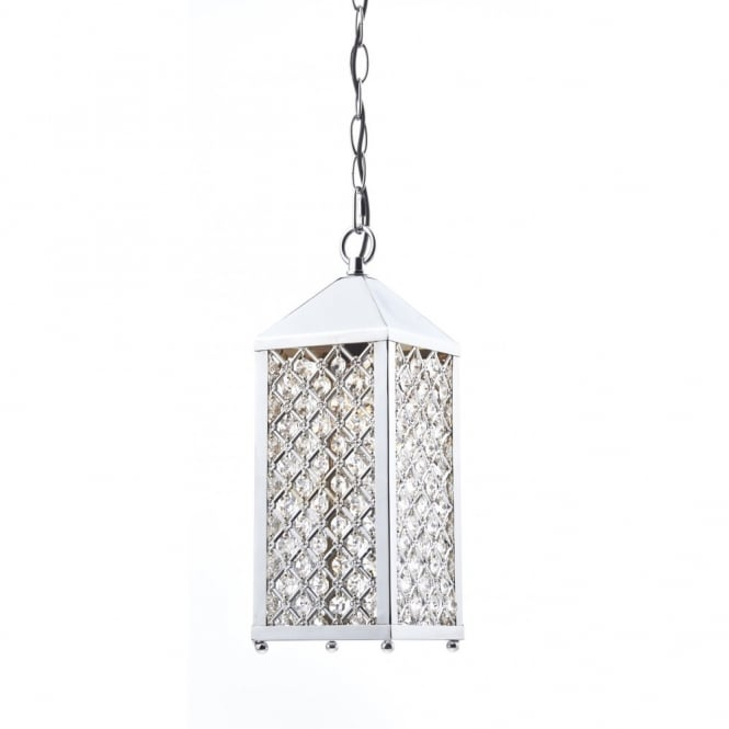 The Lighting Book PAGODA decorative single ceiling pendant in polished chrome