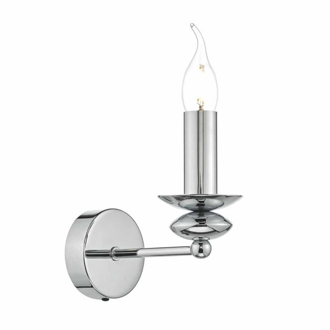PAYTON polished chrome wall light