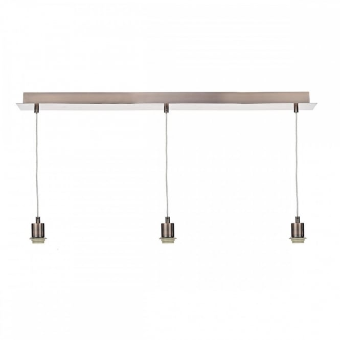 The Lighting Book PENDANT SUSPENSION 3 light suspension in copper with clear cable (E27/ES)