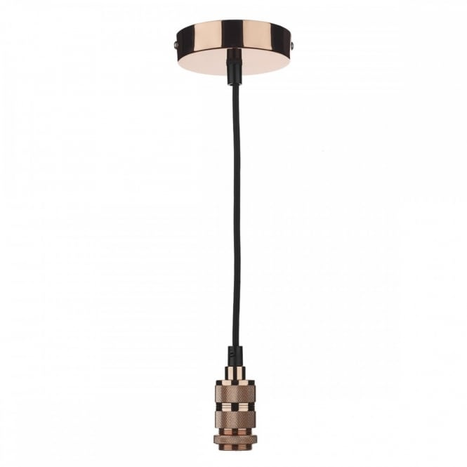 The Lighting Book PENDANT SUSPENSION in a copper finish with black braided cable (E14/SES)