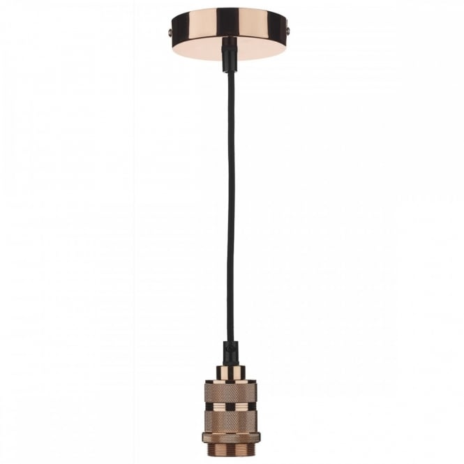 The Lighting Book PENDANT SUSPENSION in a copper finish with black braided cable (E27/ES)