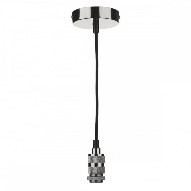 The Lighting Book PENDANT SUSPENSION in gun metal finish with black braided cable (E14/SES)