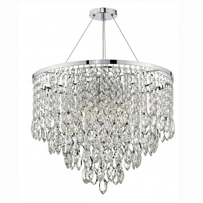 The Lighting Book PESCARA decorative tiered 5 light crystal ceiling pendant