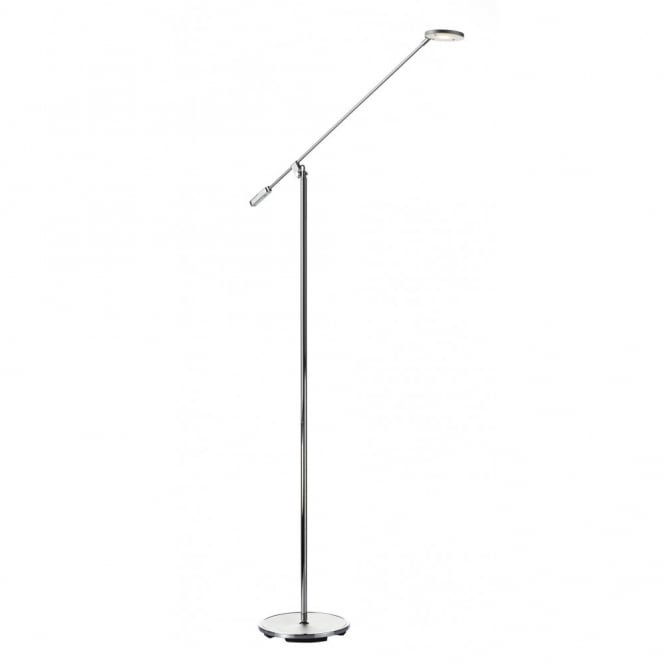 PILOT polished chrome LED floor lamp