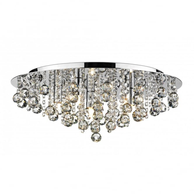 Low ceiling heights but want a chandelier opt for a modern chandelier pluto large chrome crystal chandelier for low ceilings aloadofball Images